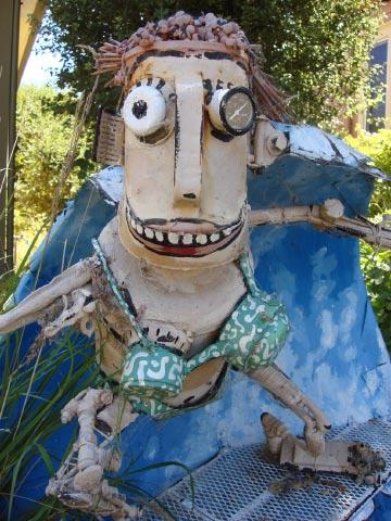 Patrick Amiot sculpture, Sebastpol, CA on July 7 2009 26