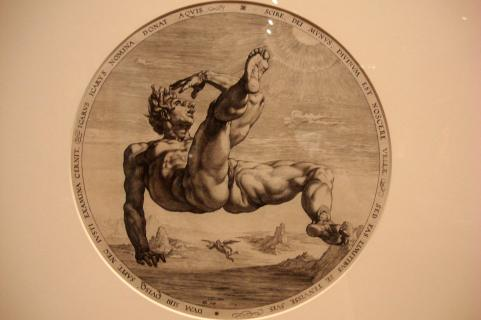 Icarus Falling; Hendrick Goltzius, Dutch, 1558-1617, Philadelphia Musuem of Art-1