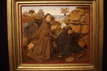 St. Francis of Assisi Receiving the Stigmata, 1430-32. Jan Van Eyck, 1441, Philadelphia Musuem of Art-1