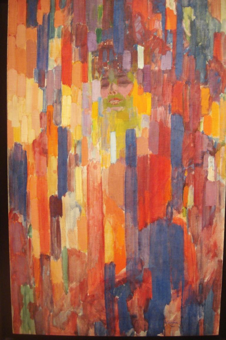 Frantisek Kupka, Mme. Kupka Among Verticals, 1910-11. MOMA-1