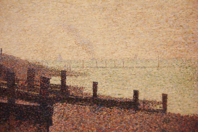 Seurat, Grand Camp, Evening, 1885, MOMA-1