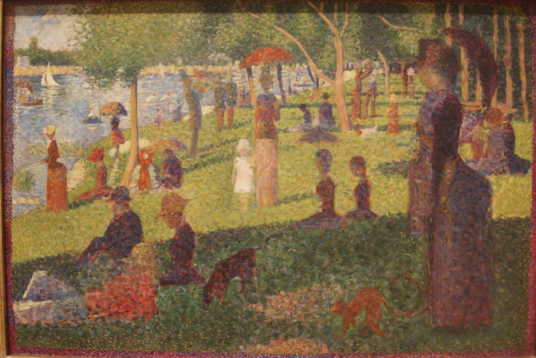 Seurat, Last Study for La Grande Jatte, 1884 MOMA-1