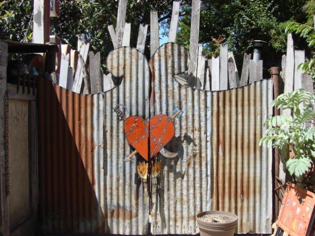 Gate to Patrick Amiot's backyard, Sebastopol, CA